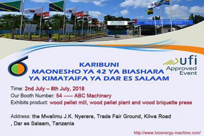 ABC Machinery will attend 42nd DAR ES SALAAM INTERNATIONAL TRADE FAIR