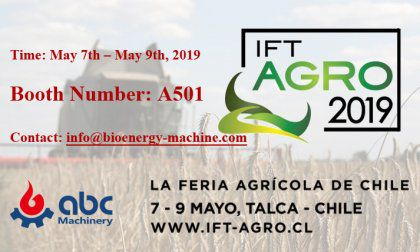 ABC Machinery Will Attend IFT Agro 2019 in Chile