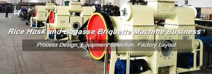 6 Sets of Rice Husk & Bagasse Briquette Machine Ready to Thailand