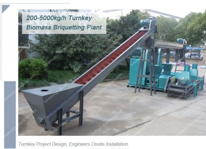 Biomass Briquetting Plant for Processing Agro Waste