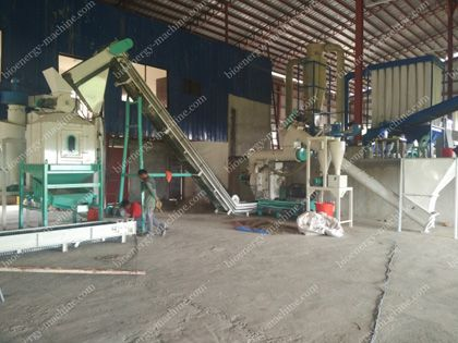 2tph Napier Grass Pelleting Plant in Philippines