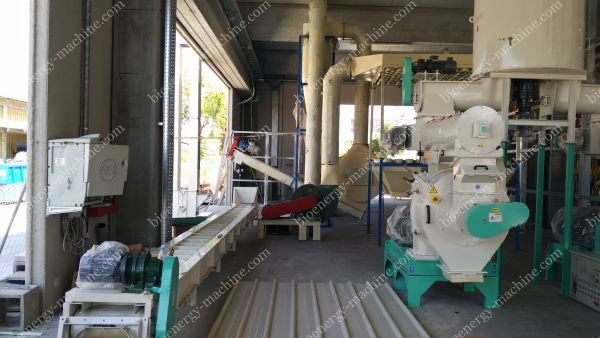 pellet machine and conveyor