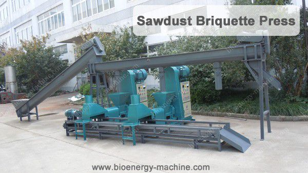 sawdust briquette press machine