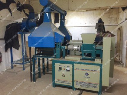 1t/H Briquetting Plant in Pakistan Makes Charcoal from Sawdust