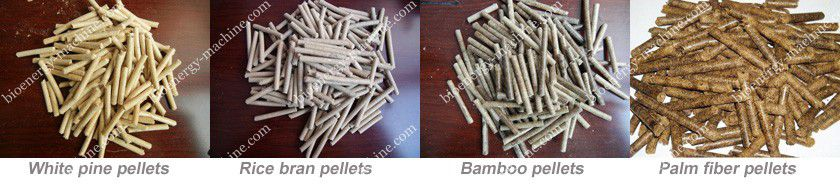 white pine, rice bran, bamboo, palm fiber pellets